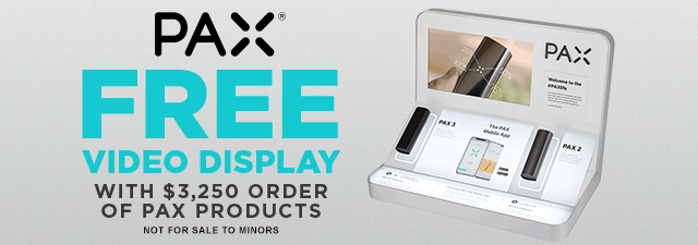 Greenlane Wholesale Canada - Free PAX Video Display Promo